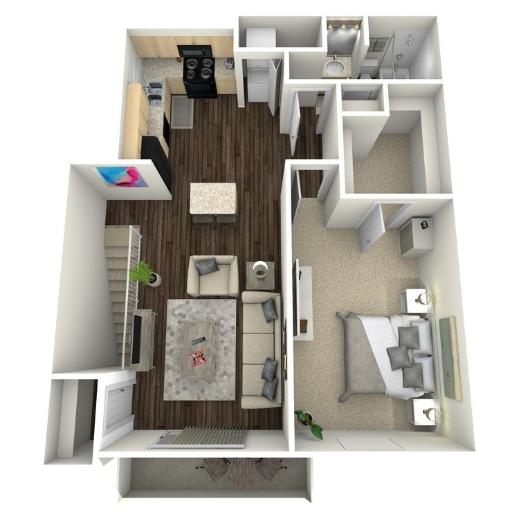 1 Bedroom 1 Bathroom Apartment for rent at Park Forest in St Louis, MO