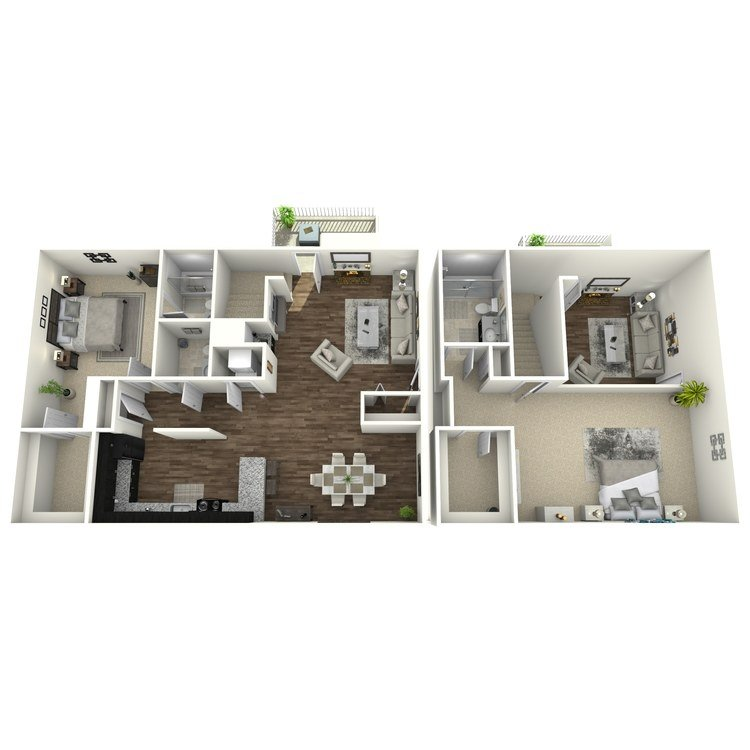 2 Bedrooms 2 Bathrooms Apartment for rent at Whispering Hills in St Louis, MO