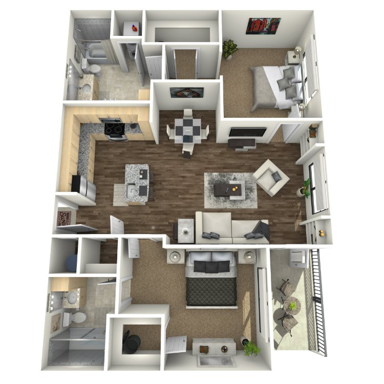 2 Bedrooms 2 Bathrooms Apartment for rent at The Orion Apartments in St Louis, MO