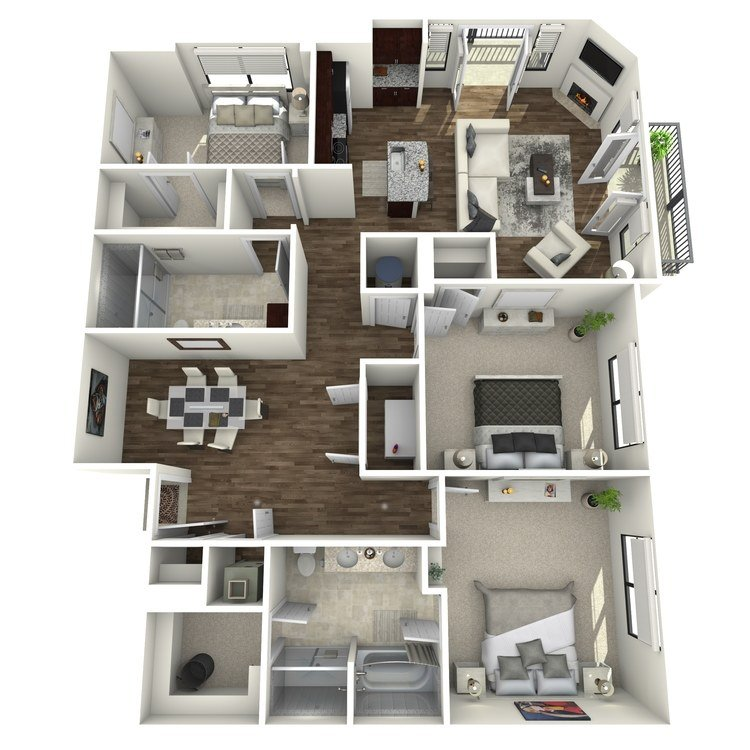 3 Bedrooms 2 Bathrooms Apartment for rent at The Orion Apartments in St Louis, MO