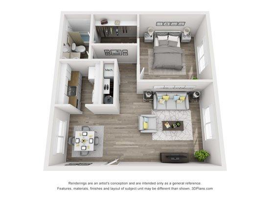 Studio 1 Bathroom Apartment for rent at Weston Square Apartments in Gainesville, FL