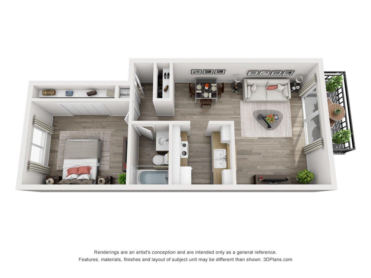 1 Bedroom 1 Bathroom Apartment for rent at Weston Square Apartments in Gainesville, FL