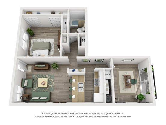 2 Bedrooms 1 Bathroom Apartment for rent at Weston Square Apartments in Gainesville, FL