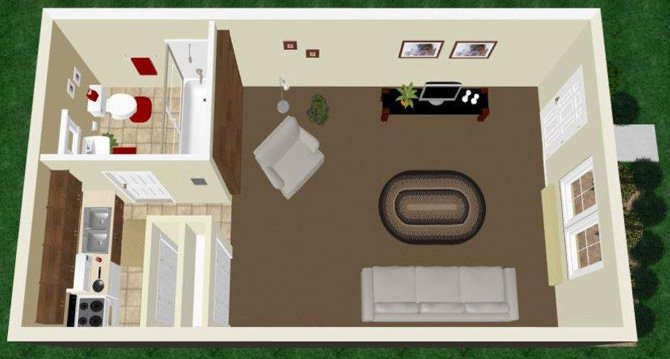 Studio 1 Bathroom Apartment for rent at Cedargate in Bloomington, IN