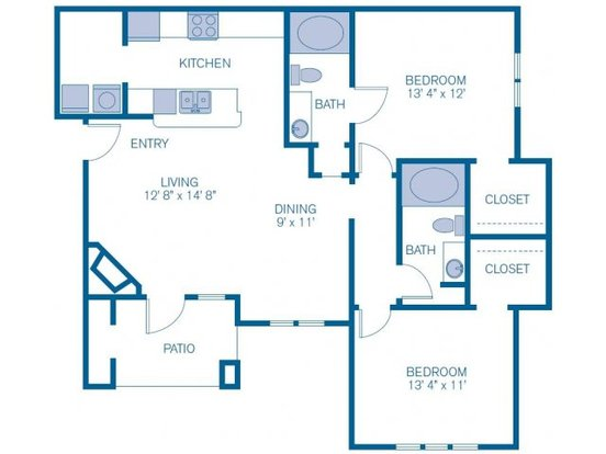 2 Bedrooms 2 Bathrooms Apartment for rent at Imt Wells Branch in Austin, TX
