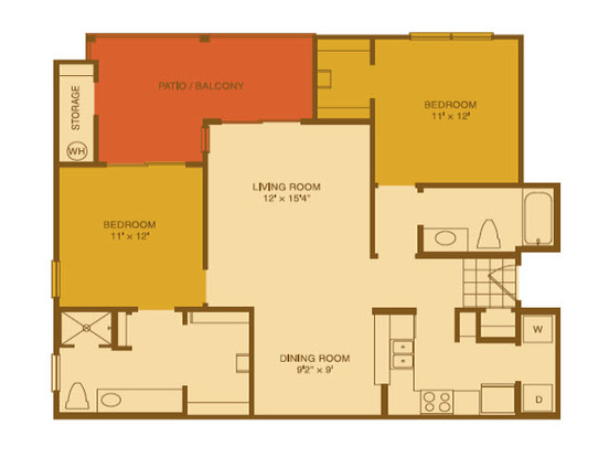 2 Bedrooms 2 Bathrooms Apartment for rent at Riata in Austin, TX