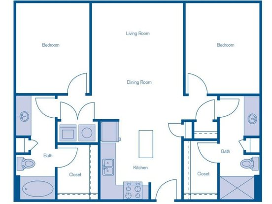2 Bedrooms 2 Bathrooms Apartment for rent at Imt @ The Domain in Austin, TX