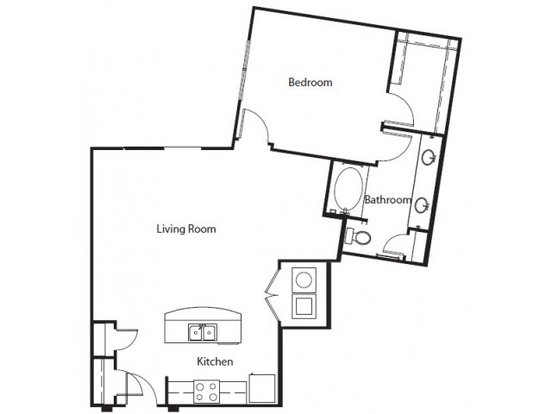 1 Bedroom 1 Bathroom Apartment for rent at Imt @ The Domain in Austin, TX