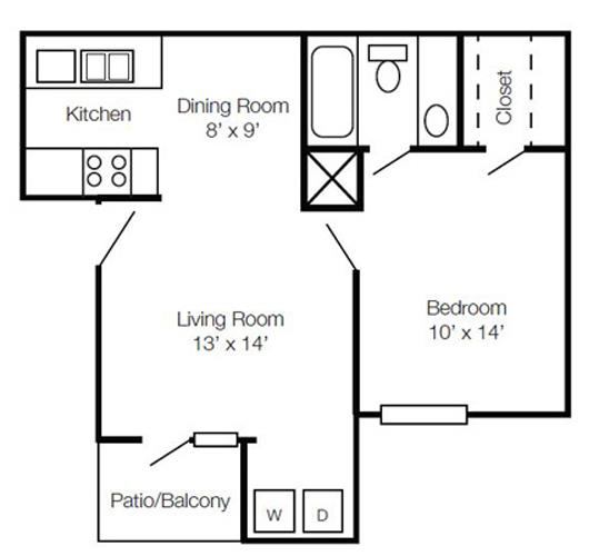 1 Bedroom 1 Bathroom Apartment for rent at Hawthorne At The View in Durham, NC
