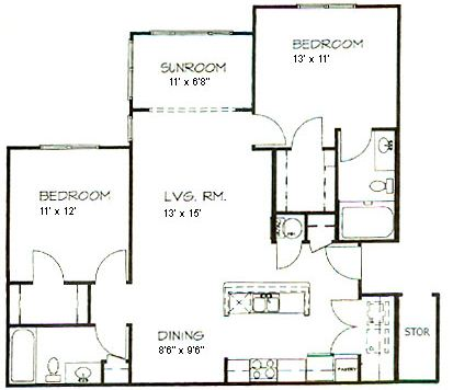 2 Bedrooms 2 Bathrooms Apartment for rent at Hawthorne At Main in Kernersville, NC