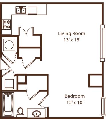Studio 1 Bathroom Apartment for rent at Metro67 in Memphis, TN