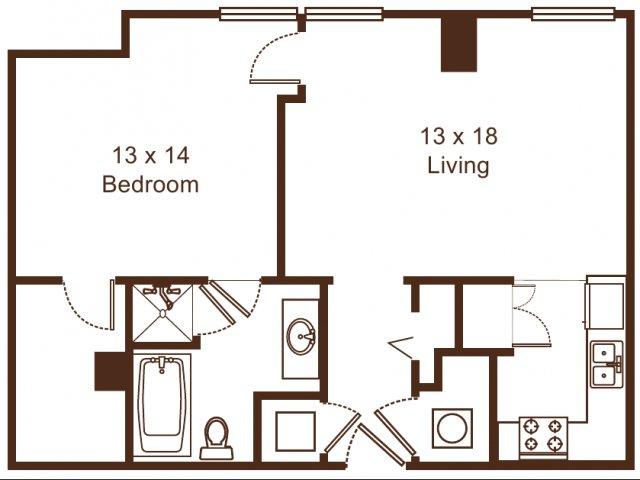 1 Bedroom 1 Bathroom Apartment for rent at Metro67 in Memphis, TN