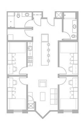 4 Bedrooms 2 Bathrooms Apartment for rent at Zaragon Place in Ann Arbor, MI