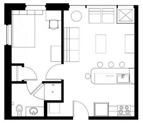 1 Bedroom 1 Bathroom Apartment for rent at Zaragon West in Ann Arbor, MI