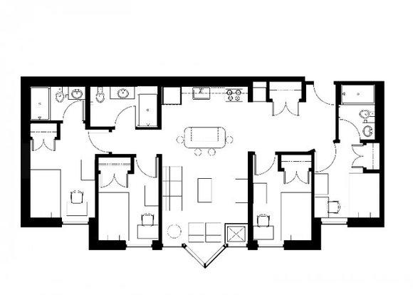 4 Bedrooms 3 Bathrooms Apartment for rent at Zaragon West in Ann Arbor, MI