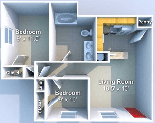 2 Bedrooms 1 Bathroom Apartment for rent at Chauncey Ridge in West Lafayette, IN