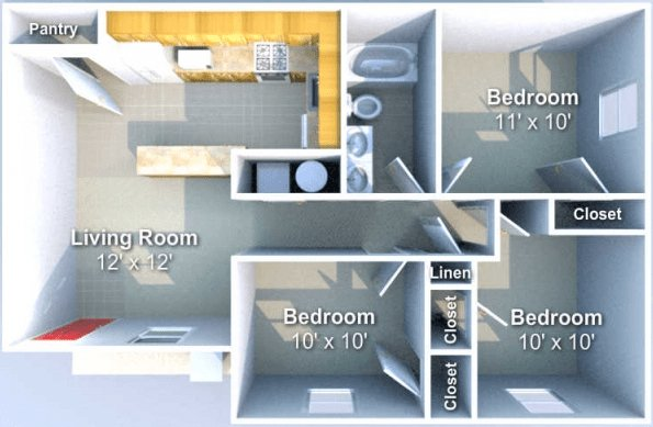 3 Bedrooms 1 Bathroom Apartment for rent at Chauncey Ridge in West Lafayette, IN