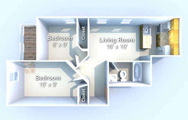 2 Bedrooms 1 Bathroom Apartment for rent at Fargo in West Lafayette, IN