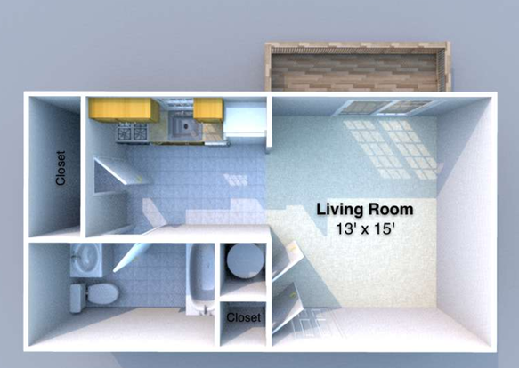 Studio 1 Bathroom Apartment for rent at Lhotse in West Lafayette, IN