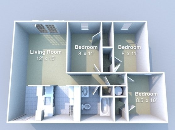 3 Bedrooms 1 Bathroom Apartment for rent at Westridge Ii in West Lafayette, IN