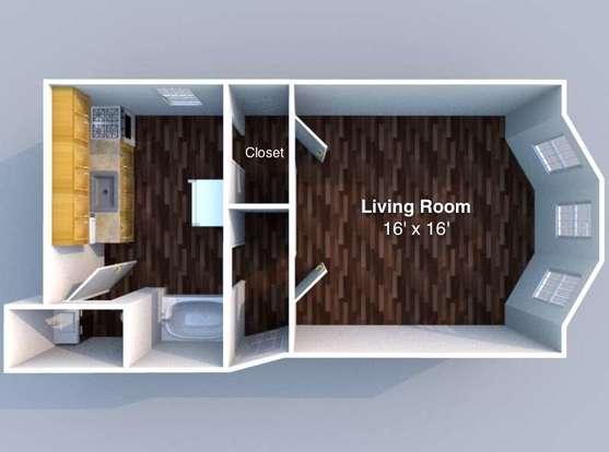 Studio 1 Bathroom Apartment for rent at Reifer in Lafayette, IN