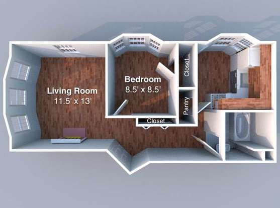 1 Bedroom 1 Bathroom Apartment for rent at Reifer in Lafayette, IN