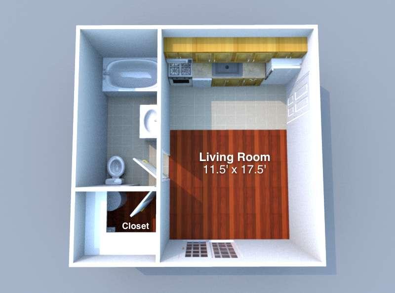 Studio 1 Bathroom Apartment for rent at Studio 11 in West Lafayette, IN