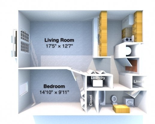 1 Bedroom 1 Bathroom Apartment for rent at Sycamore Place in West Lafayette, IN
