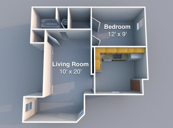 1 Bedroom 1 Bathroom Apartment for rent at Falley in Lafayette, IN