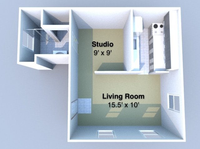 Studio 1 Bathroom Apartment for rent at Aberdeen in West Lafayette, IN
