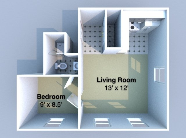1 Bedroom 1 Bathroom Apartment for rent at Aberdeen in West Lafayette, IN