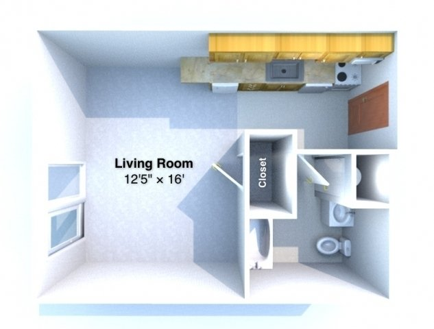 Studio 1 Bathroom Apartment for rent at Uptown West in Lafayette, IN