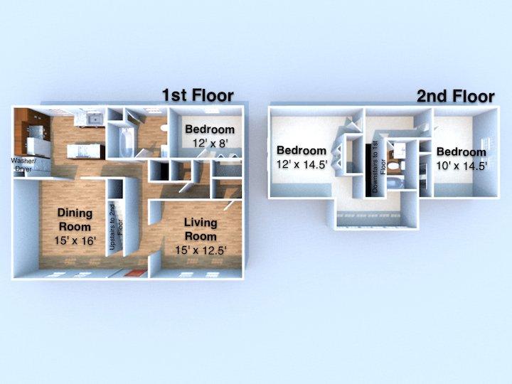3 Bedrooms 2 Bathrooms Apartment for rent at Red Door in Lafayette, IN
