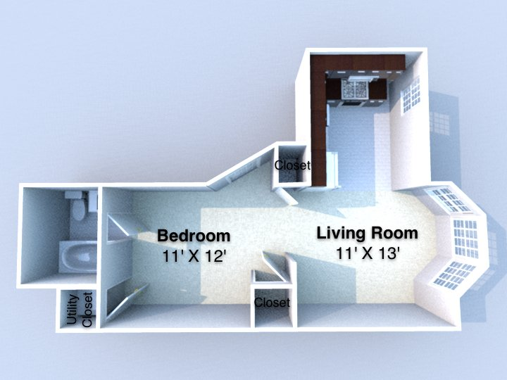 Studio 1 Bathroom Apartment for rent at Boniface in Lafayette, IN