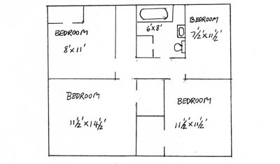 3 Bedrooms 1 Bathroom House for rent at 512 North Grant St. in West Lafayette, IN
