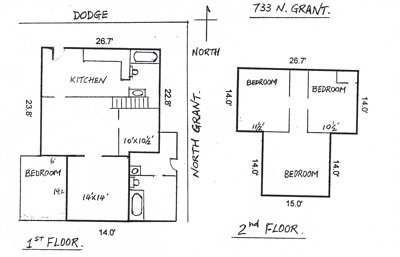 4 Bedrooms 2 Bathrooms House for rent at 733 North Grant St. in West Lafayette, IN