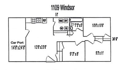 3 Bedrooms 1 Bathroom House for rent at 1109 Windsor Rd. in West Lafayette, IN