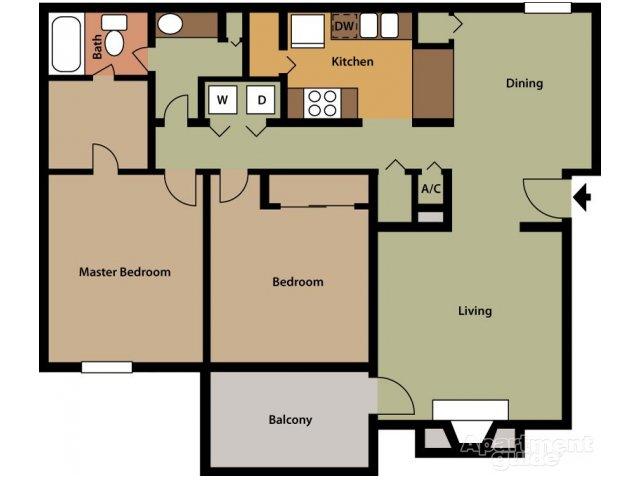 2 Bedrooms 1 Bathroom Apartment for rent at Hickory Knoll Apartments in Birmingham, AL
