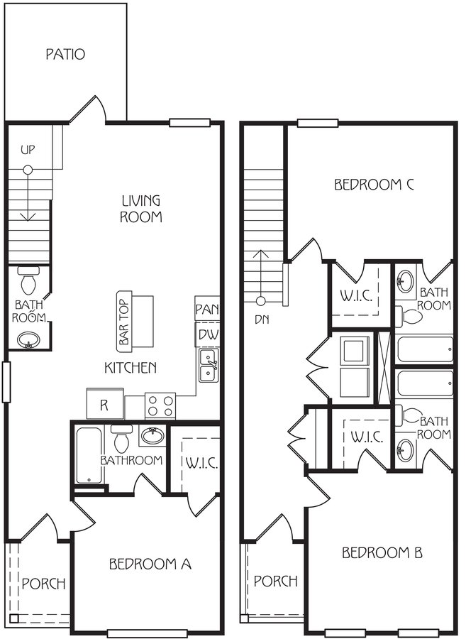 3 Bedrooms 3 Bathrooms Apartment for rent at The Retreat At Louisville Student Apartments in Louisville, KY