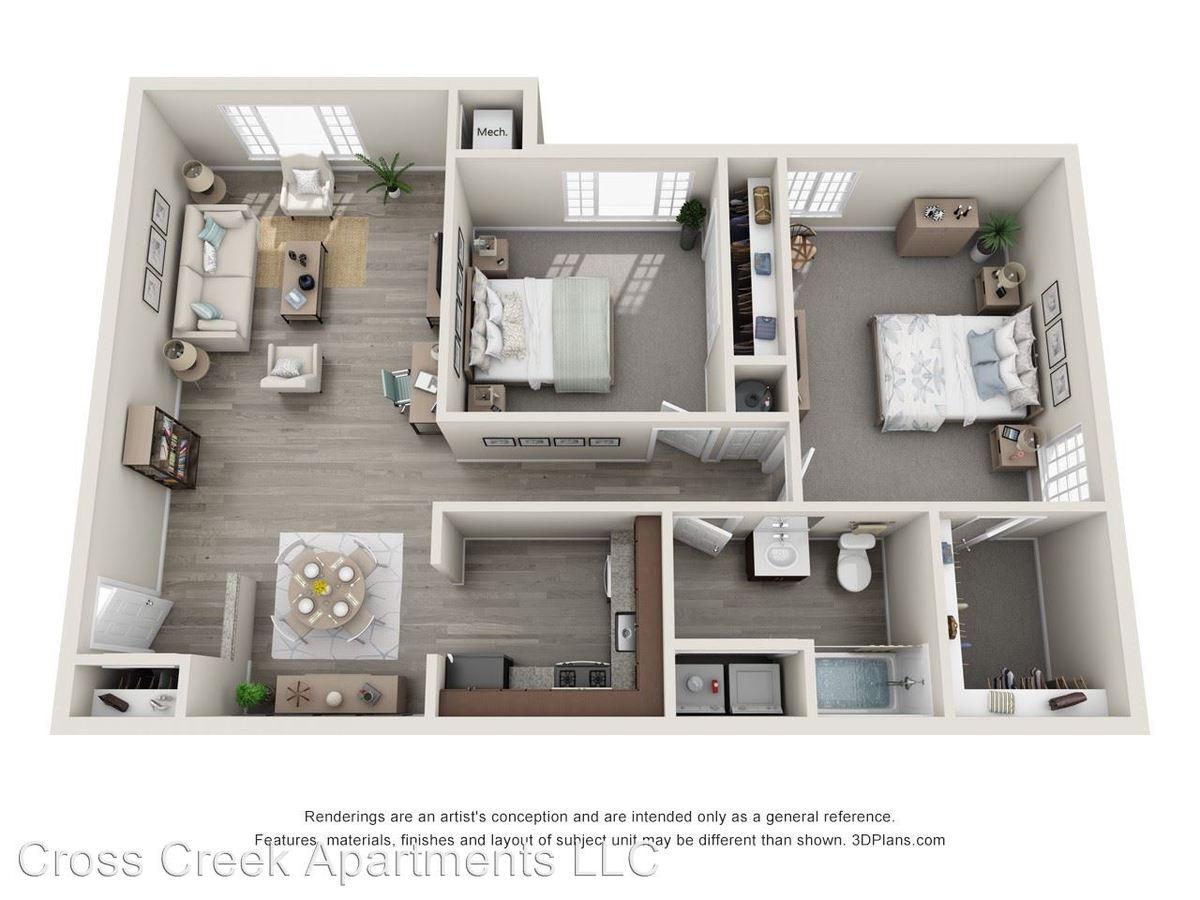 2 Bedrooms 1 Bathroom Apartment for rent at 1300 Cross Creek Drive #112 in Brunswick, OH