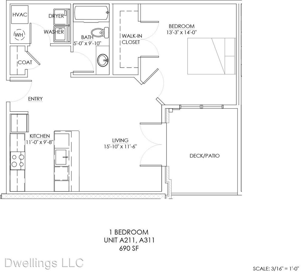 1 Bedroom 1 Bathroom Apartment for rent at 600 E Hillside Dr. in Bloomington, IN