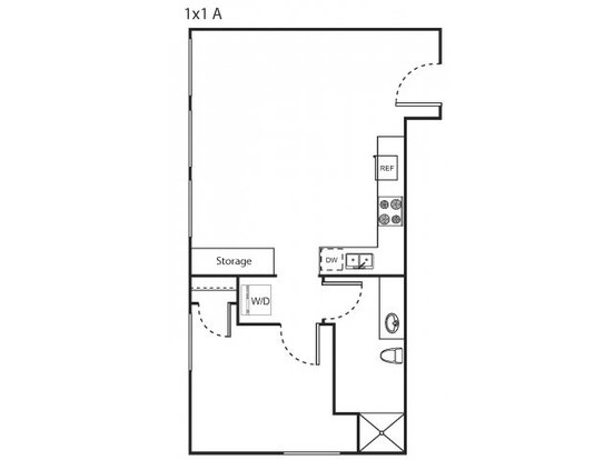 1 Bedroom 1 Bathroom Apartment for rent at Marketside Flats Llc in Seattle, WA