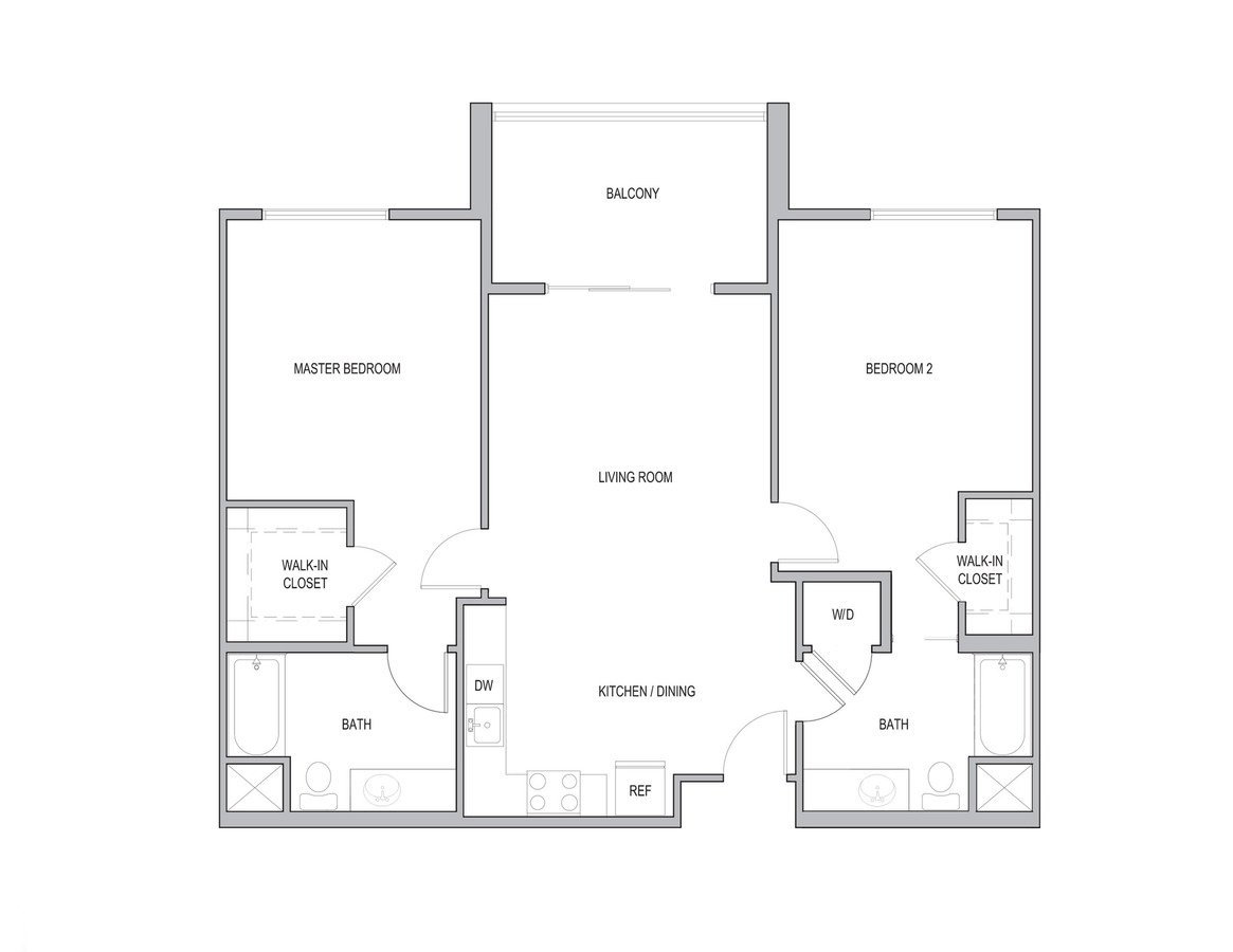 2 Bedrooms 2 Bathrooms Apartment for rent at Vivere Flats in Aneheim, CA