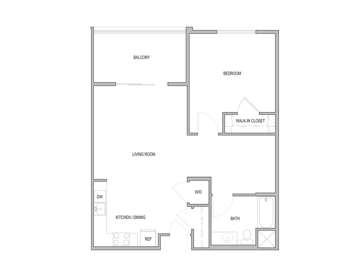 1 Bedroom 1 Bathroom Apartment for rent at Vivere Flats in Aneheim, CA