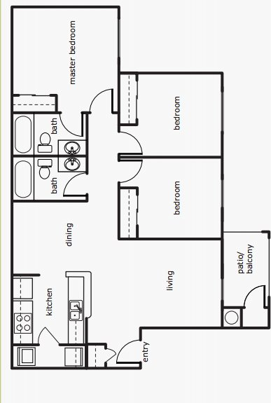 3 Bedrooms 2 Bathrooms Apartment for rent at Park At Emerald Village in Springfield, OR