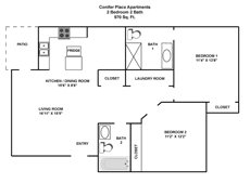 2 Bedrooms 2 Bathrooms Apartment for rent at Conifer Place in Corvallis, OR