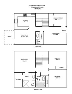 3 Bedrooms 3 Bathrooms Apartment for rent at Conifer Place in Corvallis, OR