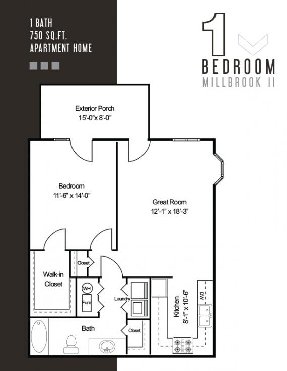 1 Bedroom 1 Bathroom Apartment for rent at The Fields in Bloomington, IN