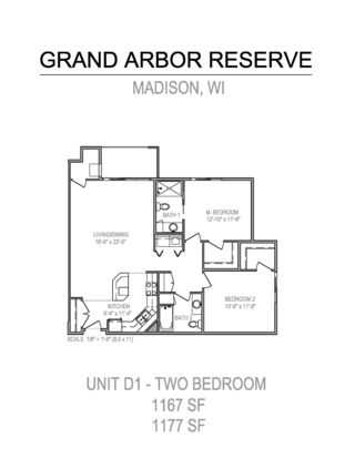 2 Bedrooms 2 Bathrooms Apartment for rent at Grand Arbor Reserve in Verona, WI
