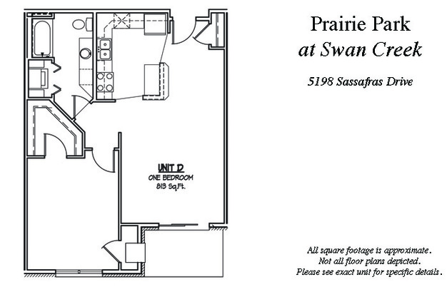 1 Bedroom 1 Bathroom Apartment for rent at Prairie Park At Swan Creek Rentals in Fitchburg, WI
